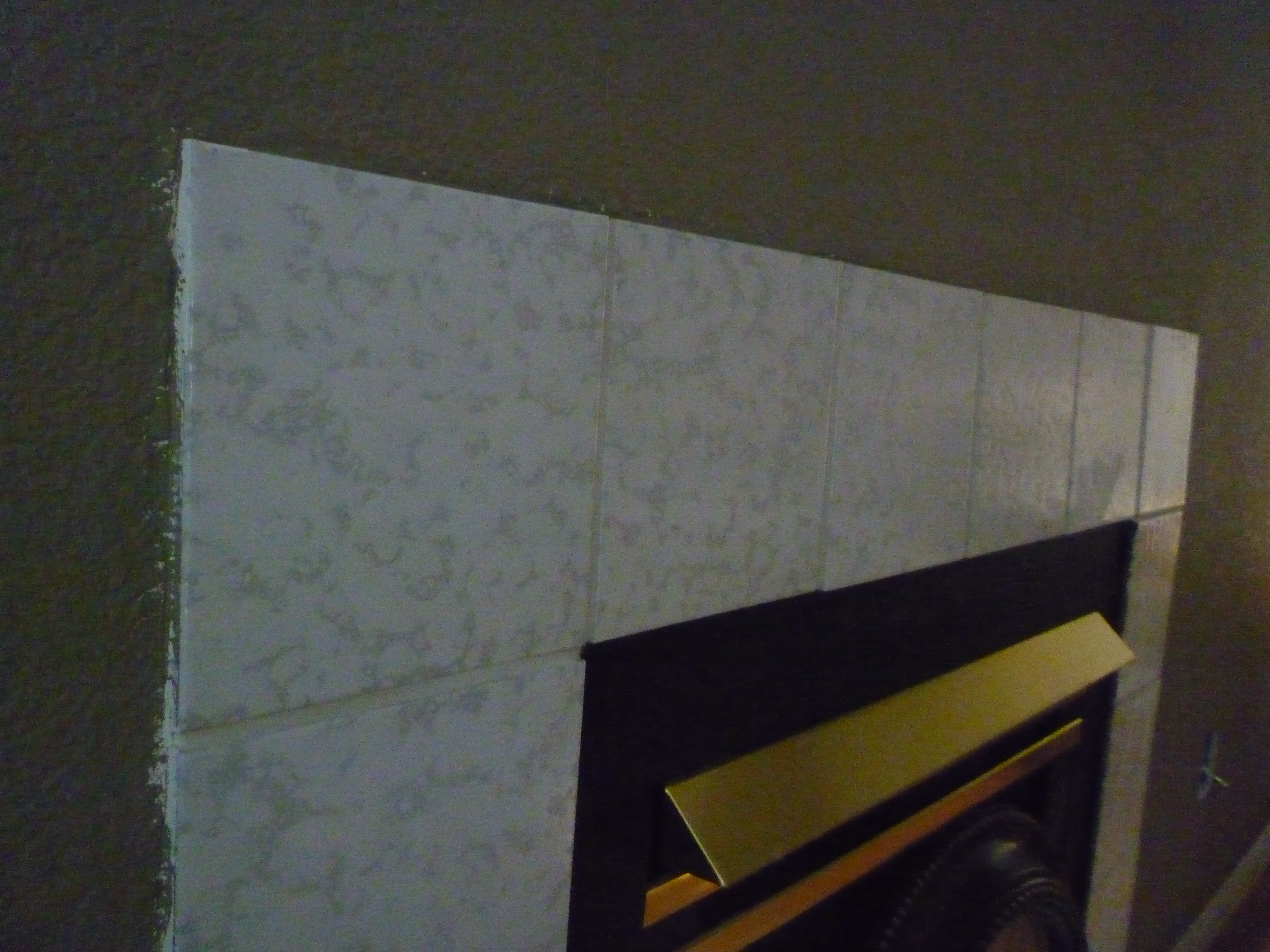Mantel Overhaul Part I Out With The Old Tile Suddenly