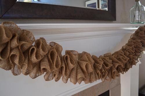 DIY burlap garland swag