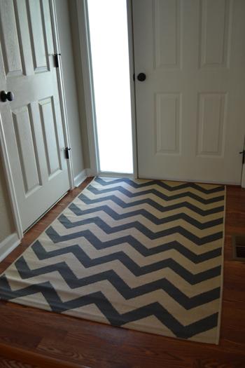 chevron rug entryway