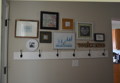 Small Foyer Coat Rack : Building a coat rack for the entryway suddenly inspired