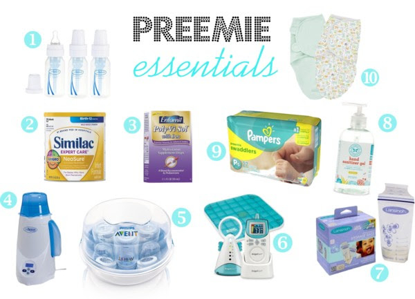 preemie essentials top ten must have items