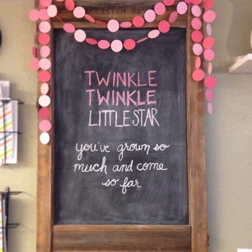 twinkle twinkle little star you've grown so much and come so far birthday chalkboard